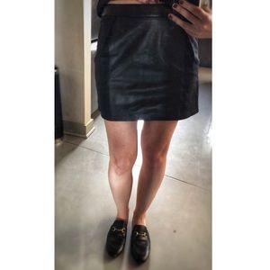 Derek Lam Linen and Leather Mini Skirt